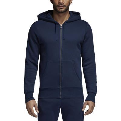 adidas Men s Essentials Linear Fleece Hoodie BQ9639 - NAVY 6bbde48827f
