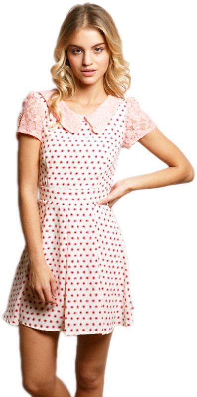 26a1189081c8 Skater φόρεμα Manuela με γιακά και κοντό μανίκι - 599030