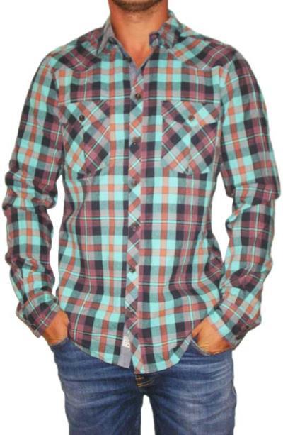 ddb853b89189 Ανδρικό πράσινο καρό πουκάμισο - 10599-grn