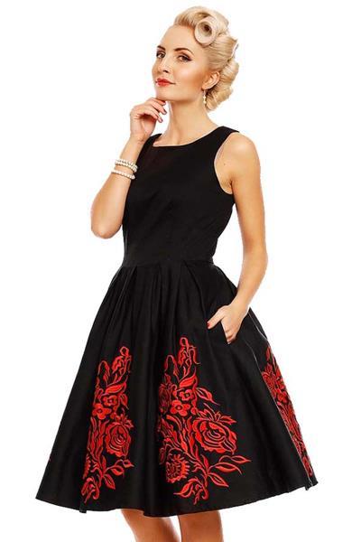 vintage occasion φόρεμα fancy Annie black   red ce6ec2ebd82