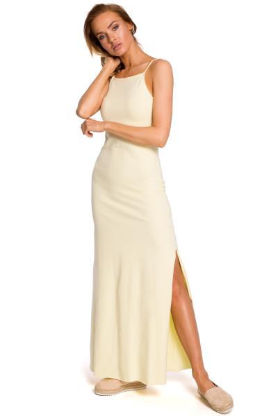 63942758d246 φόρεμα maxi κιτρινο - Totos.gr