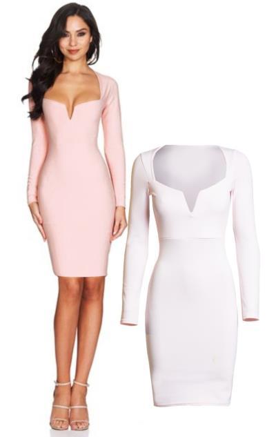 1cc03ba4ba20 Μακρυμάνικο μίνι φόρεμα - Ρόζ