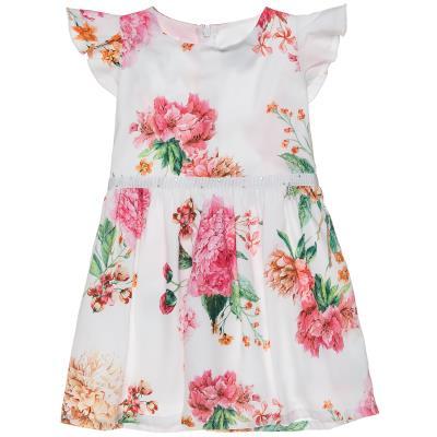 Φόρεμα φλοράλ με στρας και βολάν στα μανίκια (18 μηνών-5 ετών) 00241189  MULTICOL 3056c38b267
