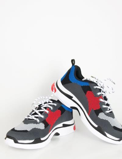 32cd5970615 Ανδρικά γκρι αθλητικά παπούτσια με αερόσολα 6679F