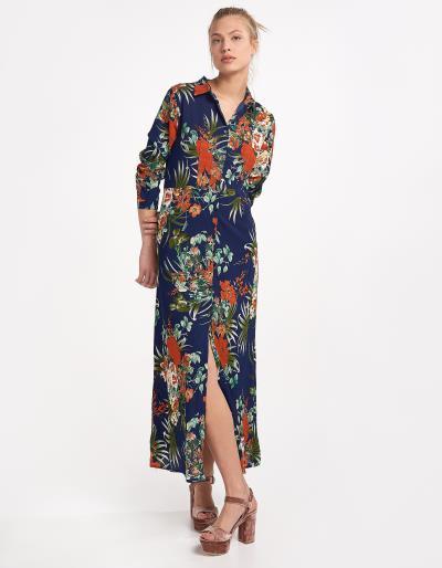 φόρεμα μπλε μαξι issue fashion - Totos.gr 004908c2f92