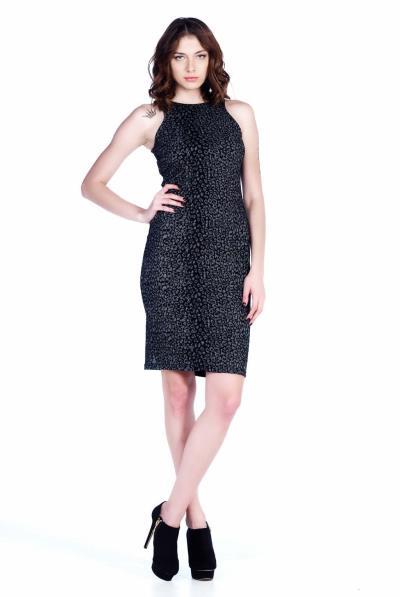 Φόρεμα αμάνικο λεοπάρ μπροκάρ - 12511 4053368acdd