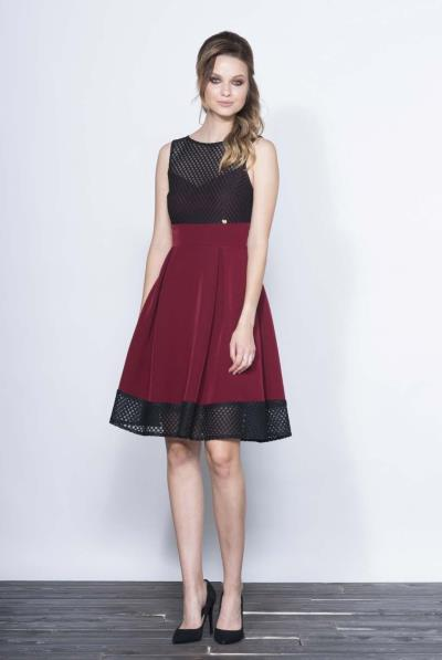 73c0e1ff6f82 Φόρεμα πιέτες μπούστο δίχτυ - 16624