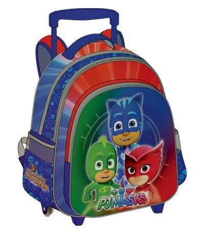 7d28e3e3356 Σχολική τσάντα Δημοτικού τρόλεϋ PJ MASKS 3D με 3 θήκες 32x43x18cm 484050