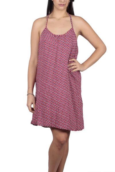 f08a6076366e Ριχτό εξώπλατο φόρεμα με γεωμετρικό ντεσέν - ds-19106