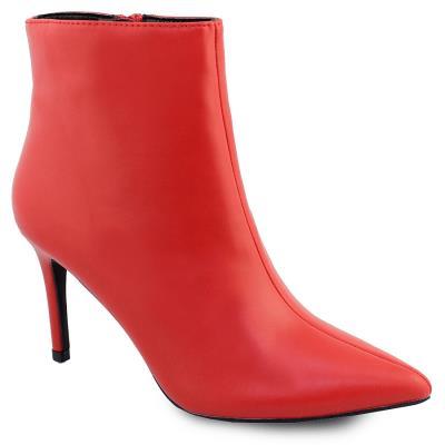 a78275fcda7 Γυναικεία μποτάκια σε μυτερή φόρμα Κόκκινο