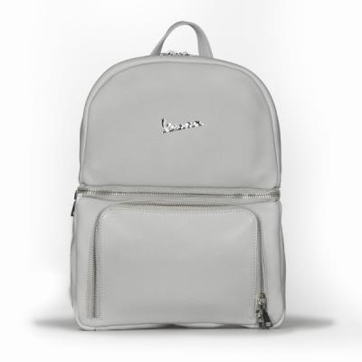 10e6e584a2 Vespa Σακίδιο Πλάτης Primavera 50TH Anniversary Backpack από Γνήσιο Δέρμα  Γκρι
