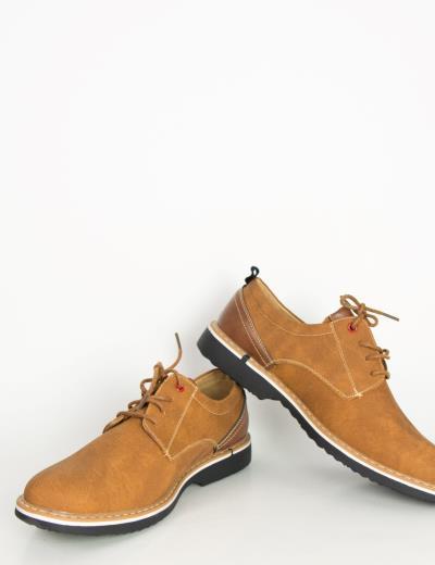 3a34a80e3d0 Ανδρικά κάμελ δετά παπούτσια Casual με διχρωμία X006