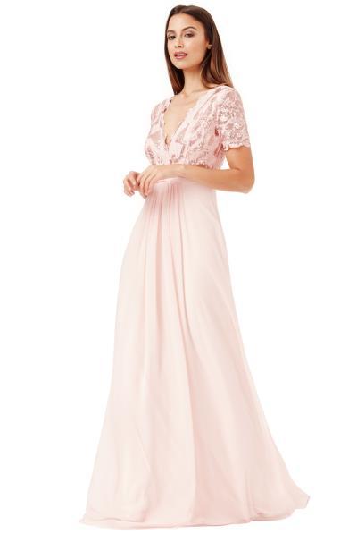 shinny paillete top αέρινο bridal blush φόρεμα Daphne 34263cc6e48