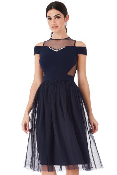 be856ac61707 fragile tulle navy blue princess φόρεμα