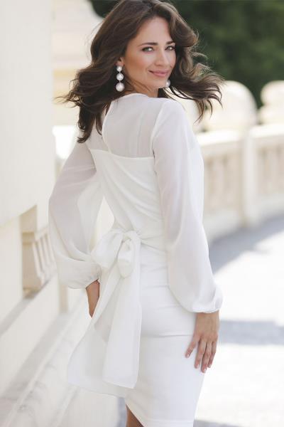 cae535cfdef9 φόρεμα μιντι ασπρο midi - Totos.gr