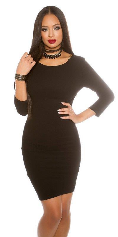 1c7a061ae568 41622 FS Μίνι φόρεμα με αλυσίδες στη πλάτη-Μαύρο