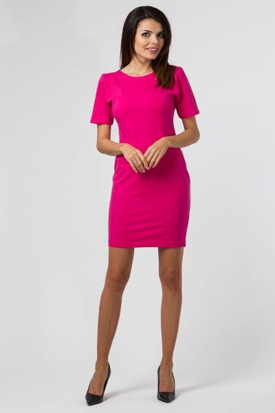 3f02f5c487ab Κοντομάνικο μίνι φόρεμα - Φούξια
