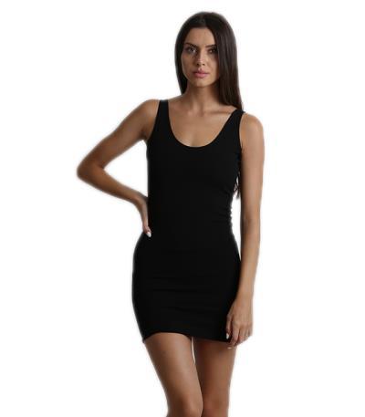Mini Εφαρμοστό Φόρεμα τιράντα με ανοιχτή πλάτη (Μαύρο) 84eee3ed7e3