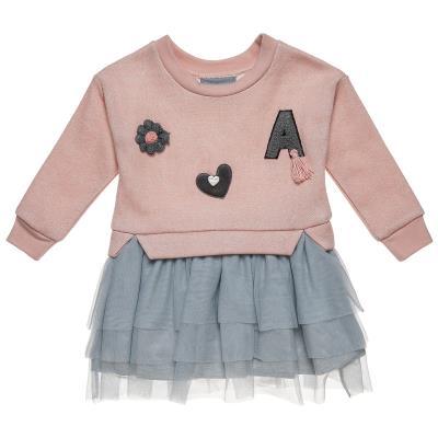 ca30fc0a00e Φόρεμα φούτερ με patches και τούλι (Κορίτσι 9 μηνών-5 ετών) 00241243 ΣΟΜΟΝ