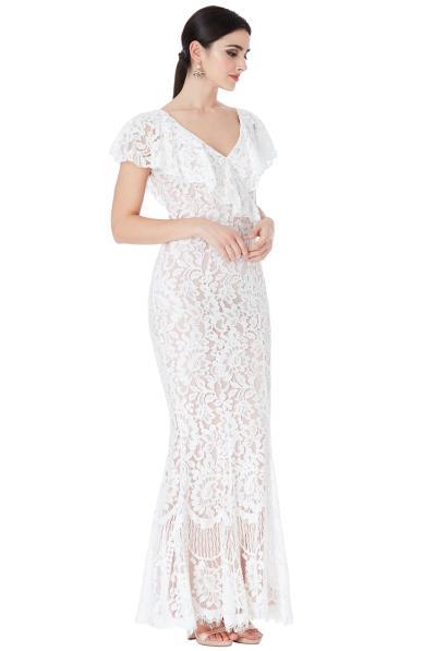 57461b3c185 bridal fine chantilly maxi φόρεμα Karen white