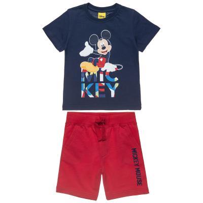 0cb29998d8 Σετ Disney Mickey Mouse μπλούζα με τύπωμα και βερμούδα (12 μηνών-5 ετών)  0037054
