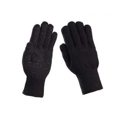 Γάντια πλεκτά πετσετέ με pvc Μαύρο 102A 69a9beab5af