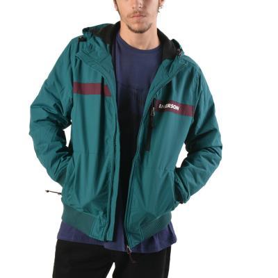 Emerson Men s Ribbed Jacket With Hood 182.EM10.34-165 - TT610 PEACOCK WINE f8566ff05b5