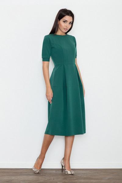 Κλος midi φόρεμα με πιέτες - Πράσινο 5afa215d645