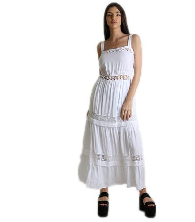 b5503dc7769d Φόρεμα μάξι με κεντητές λεπτομέρειες (Λευκό). Άμεσα διαθέσιμο