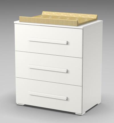 0af4c449806 Συρταριέρα FAKTUM LEXI με 3 συρτάρια -χρώμα λευκό