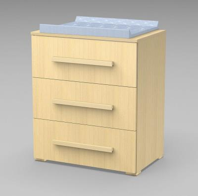 136204fa4ad Συρταριέρα FAKTUM LEXI με 3 συρτάρια -χρώμα οξιά φυσικό