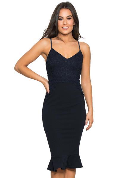 f23d8eef0cf0 chic cocktail φόρεμα midnight blue Caroline