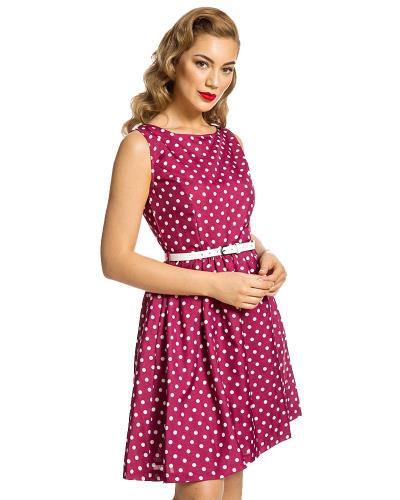 vintage polka dot φόρεμα Audrey berry fe92f6d5985