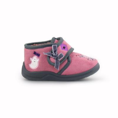 Παιδικές παντόφλες με σχέδια και φιογκάκι Ροζ e0a67d97bf3