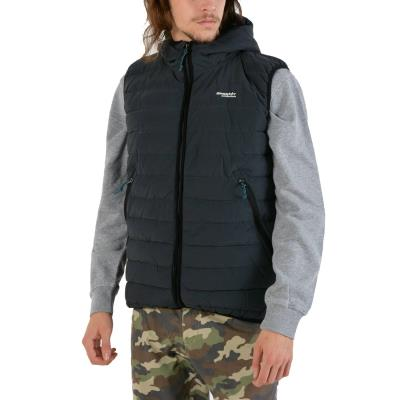Basehit Men s Washed Vest With Hood 181.BM15.32-001 - CN EBONY f52e1e01cd5