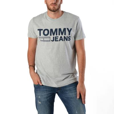 Tommy Hilfiger Essential Logo Men s T-shirt DM0DM04528-038 - LIGHT GREY  HEATHER 11d6714a597