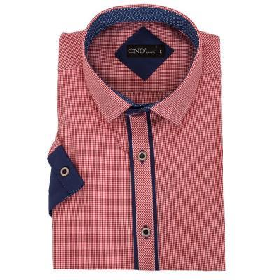 84d638ca0101 Ανδρικό Πουκάμισο slim fit Κοντομάνικο CND Shirts 710-1