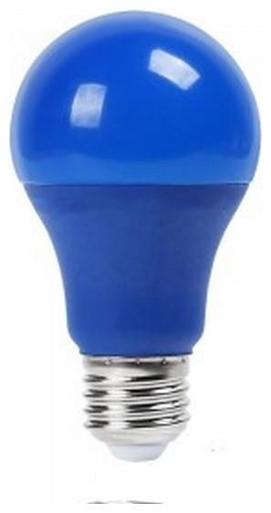 LED V-TAC Λάμπα E27 9W A60 Thermoplastic Μπλε 7344 35e75bccec5