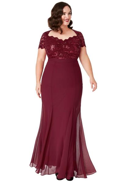 7db497b982ca plus size επίσημο glam φόρεμα mermaid Ines σε μπορντώ