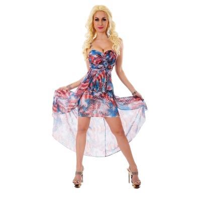 7d2d52265d63 31004 SD Ασύμμετρο μίνι φόρεμα - Μπλε Κόκκινο
